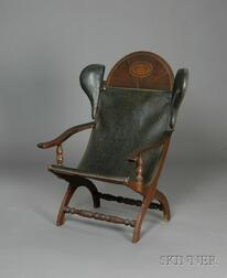 "Federal Mahogany Inlaid Carved Sling-seat ""Campeachy"" Armchair"