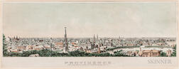 """Providence From Prospect Terrace-1877"" Lithograph"