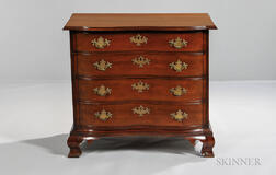 Diminutive Carved Cherry Chest of Drawers
