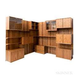 "Poul Cadovius for Royal System ""System Cado"" Rosewood Wall Furniture"