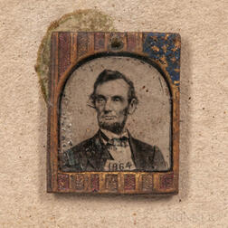 Small Campaign Tintype Photograph of Abraham Lincoln