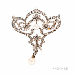 Belle Epoque Diamond Pendant/Brooch