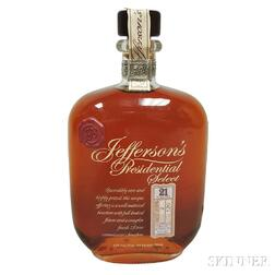 Jeffersons Presidential Select Bourbon 21 Years Old, 1 750ml bottle