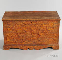 Putty-painted Pine Six-board Chest