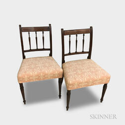 Pair of Regency-style Mahogany Side Chairs
