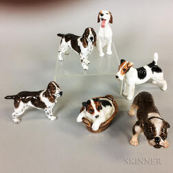 Six Royal Doulton Porcelain Dogs