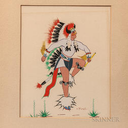 Spencer Asah Indian Dancing Painting
