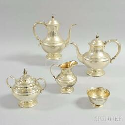 "Reed & Barton ""The Pilgrim"" Four-piece Sterling Silver Tea Set"
