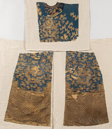 Three Panels from an Informal Kesi Robe