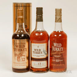 Mixed Wild Turkey, 3 750ml bottles