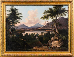 American School, 19th Century      Mountain Landscape, Possibly a New Hampshire View