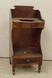 Late Federal Mahogany Washstand.