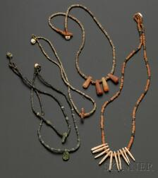 Five Pre-Columbian Beaded Necklaces
