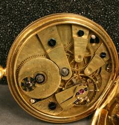 18kt Gold Open Face Pocket Watch