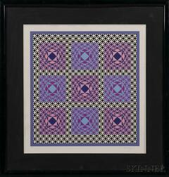 Victor Vasarely (Hungarian/French, 1906-1997)    Jatek