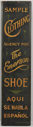 "Tall Paint-decorated ""Emerson Shoe"" Trade Sign"