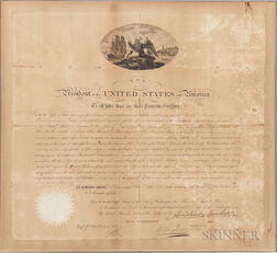 Jackson, Andrew (1767-1845) Document Signed as President, Washington, DC, 3 March 1835.