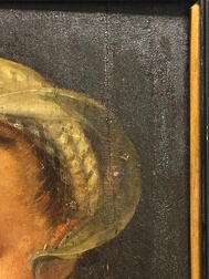 Northern European School, 17th Century Style      Portrait Head of  Woman in a White Cap and Ruff