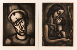 Georges Rouault (French, 1871-1958)      Two Prints from Miserere :  Il serait si doux d'aimer