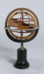 11-inch Brass and Pasteboard Armillary Sphere