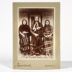 Cabinet Card Photo of Quanah Parker & Wives