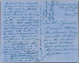 Lind-Goldschmidt, Jenny (1820-1887) Autograph Letter Signed and Clipped Signature.