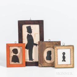 Four Framed Silhouettes