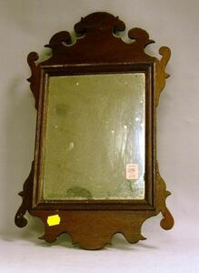 Small Chippendale Mahogany Looking Glass.