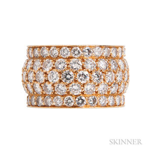 18kt Gold and Diamond Band Ring, Cartier