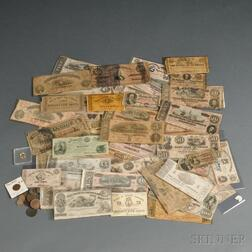 Group of Confederate and Federal Currency