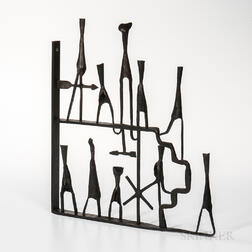Paul Aschenbach (b. 1921) Subway Entrance   Sculpture