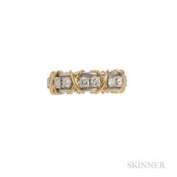 "18kt Gold, Platinum, and Diamond ""Sixteen Stone"" Ring, Schlumberger, Tiffany & Co."