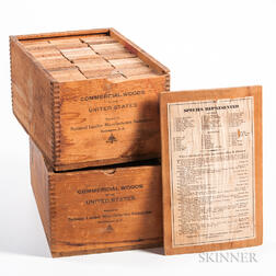 "Two Boxes of ""Commercial Woods of the United States,"""