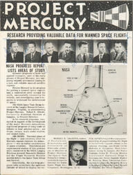 Project Mercury 7 Astronauts, Signed NASA Periodical: Project Mercury [and] Official NASA Photograph.