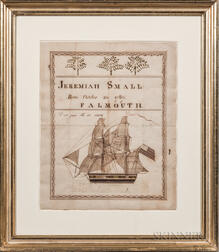 Pen and Ink Birth Record for Jeremiah Small