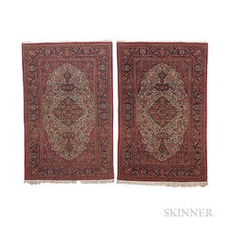 Pair of Kashan Rugs