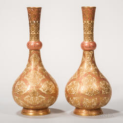 Pair of Crown Derby Porcelain Persian-style Vases