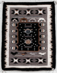 Contemporary Navajo Two Grey Hills Weaving