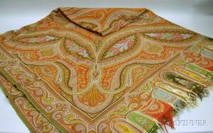 Large Wool Paisley Shawl