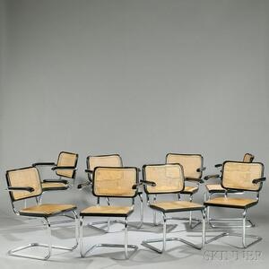 Eight Cesca Chairs Attributed to Marcel Breuer