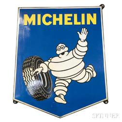Michelin Enameled Metal Sign