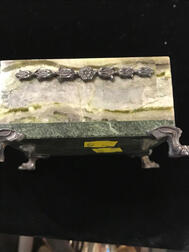 Silver-mounted Hardstone Box