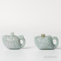 Two Jadeite Teapots