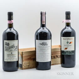 Mixed Chianti Magnums, 3 magnums (one owc)