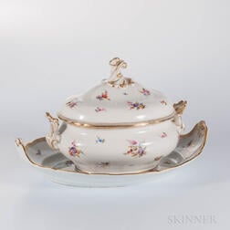 Meissen Porcelain Covered Tureen and Underplate