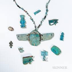 Nineteen Egyptian Faience Items