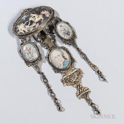 French Gold and Mother-of-pearl Chatelaine