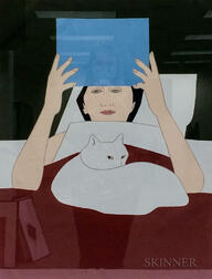 After Will Barnet (American, 1911-2012)      Woman Reading