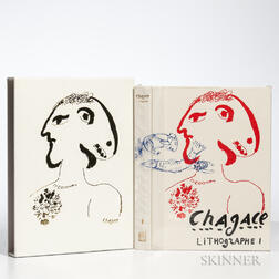 Chagall, Marc (1887-1995) Lithographe I-IV  , Japanese Edition.