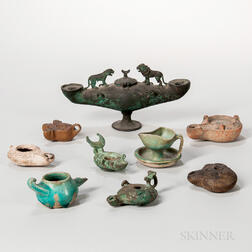 Group of Roman and Persian Oil Lamps